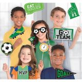 Goal Getter Soccer Photo Booth Prop Kit, 13-pc