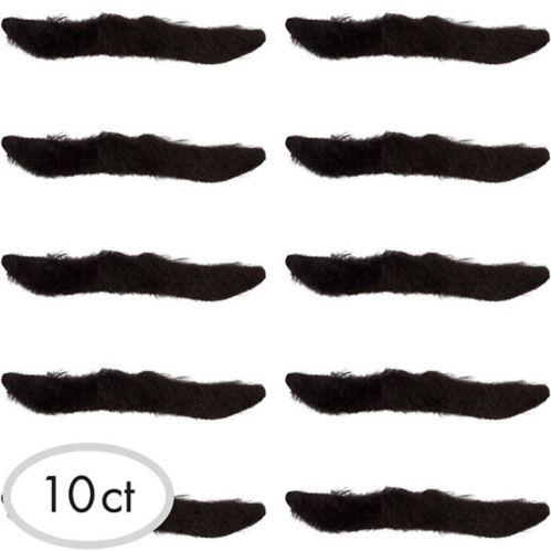 Black Classic 50s Moustaches, 10-pk