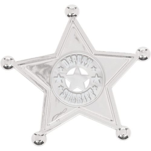 Insignes de shérif argentée, paq. 8