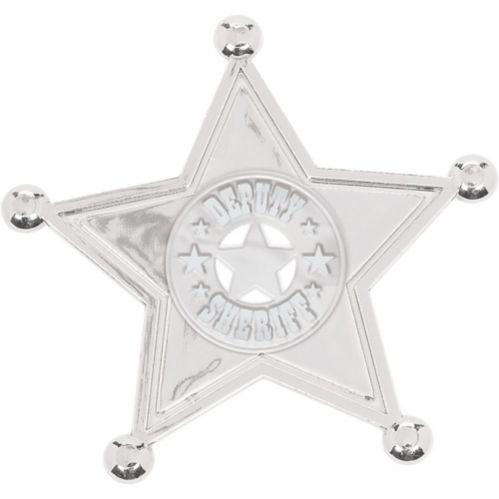 Silver Sheriff Badges, 8-pk