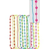 Multicolour Peace Sign Bead Necklaces, 10-pk