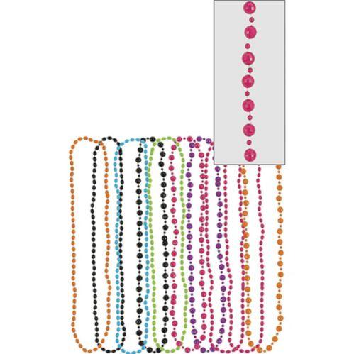 Multicolour 80s Bead Necklaces, 10-pk Product image