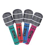 Inflatable Microphones, 4-pk