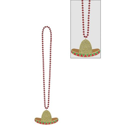 Sombrero Pendant Bead Necklace