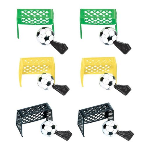 Table Top Soccer Games, 6-pk