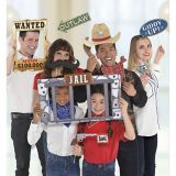 Giant Yeehaw Western Photo Booth Props, 12-pk
