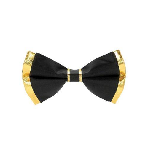Metallic Gold & Black Bow Ties, 8-pk