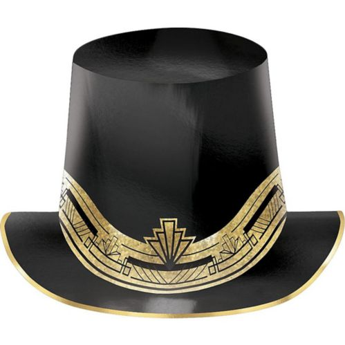 Metallic Hollywood Top Hat