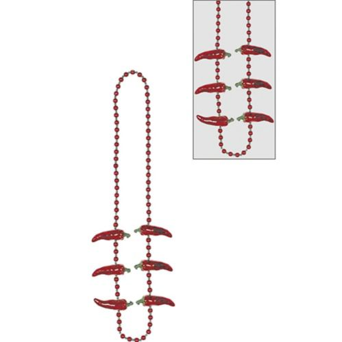 Collier de perles Piment rouge