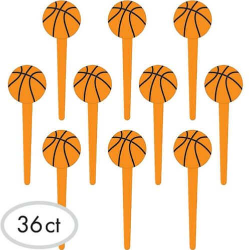 Basketball Party Picks, 36-pk