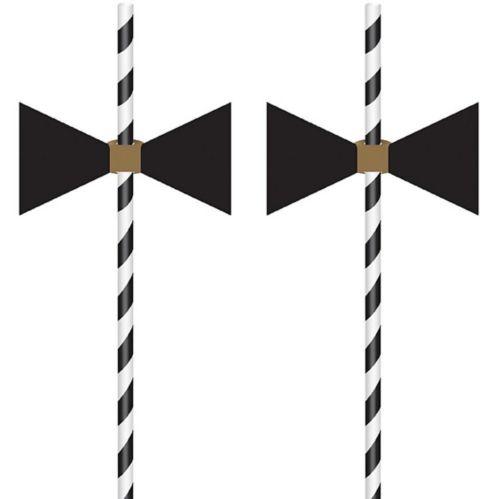 Pailles en papier à noeud papillon, paq. de 12