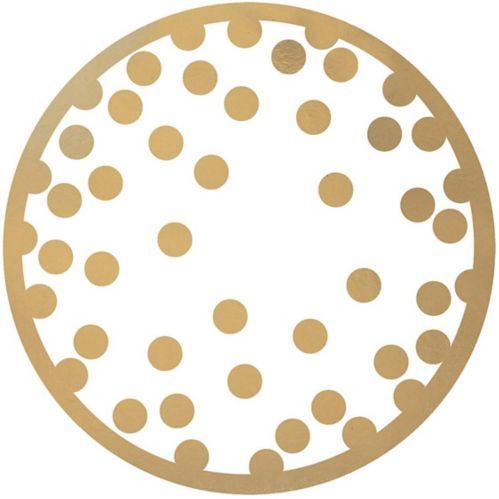 Gold Polka Dot Coasters, 18-pk