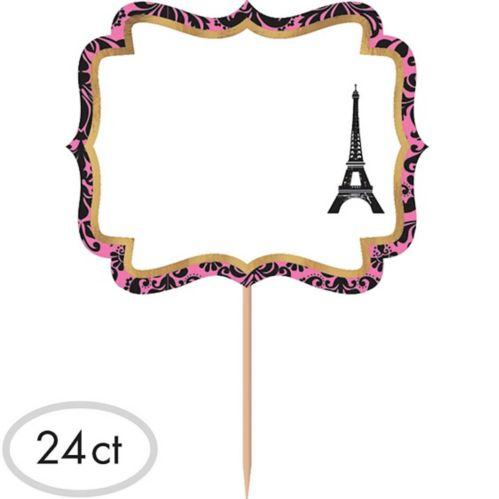 Étiquettes sur cure-dents Un jour à Paris, paq. 24