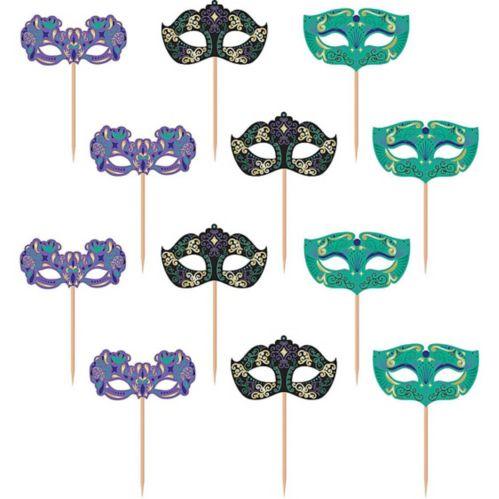 A Night in Disguise Masquerade Cupcake Picks, 24-pk