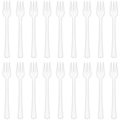 Mini White Plastic Forks, 40-pk Product image