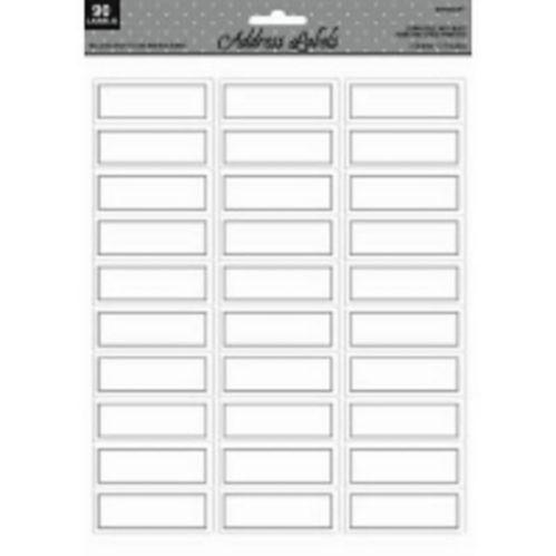 Silver Address Label, 90-ct
