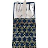 Metallic Hanukkah Celebration Cutlery Holders, 12-pk | Amscannull
