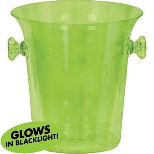 Seau à glace en plastique vert fluorescent lumière noire