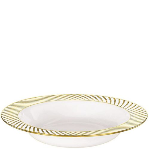 Bols à spirales, blanc et or, paq. 10