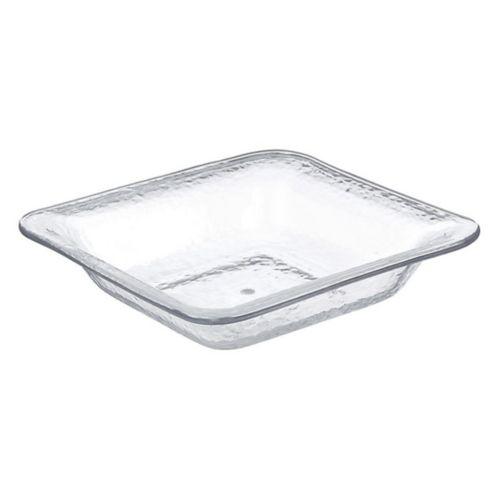 Plat de service carré en plastique martelé de qualité supérieure