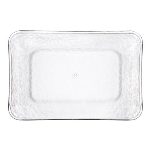 Premium Plastic Hammered Rectangular Serving Tray