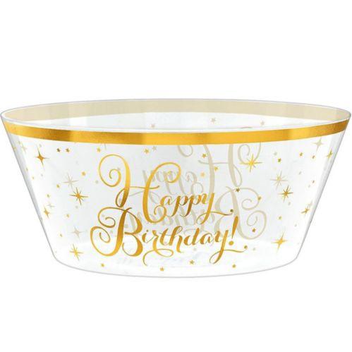 Bol en plastique doré pour anniversaire