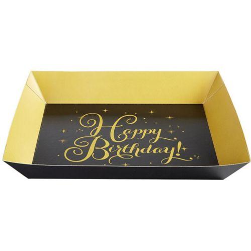 Plateaux de service d'anniversaire doré, paq. de 2 Image de l'article
