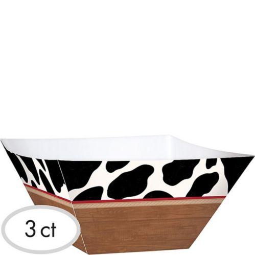 Yeehaw Western Snack Bowls, 3-pk