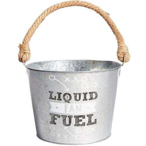 Liquid Fan Fuel Football Galvanized Bucket