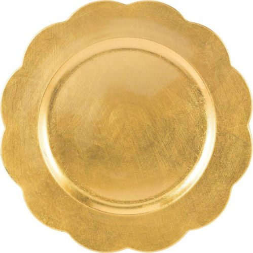 Gold Scalloped Plastic Charger