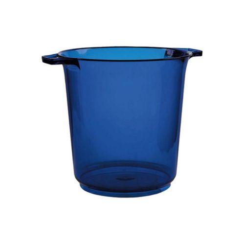 Seau à glace en plastique bleu