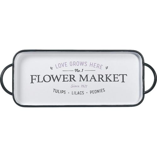 Love Grows Here Flower Market Serving Tray
