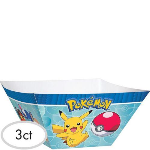 Bols de service en papier Pokémon classique, paq. 3