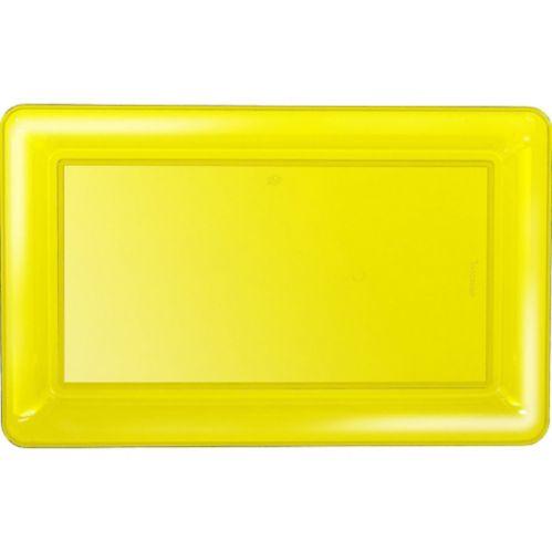 Yellow Plastic Rectangular Platter Product image