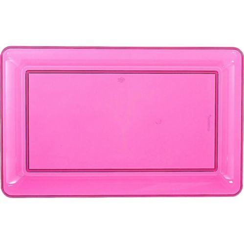 Plateau rectangulaire en plastique rose vif Image de l'article