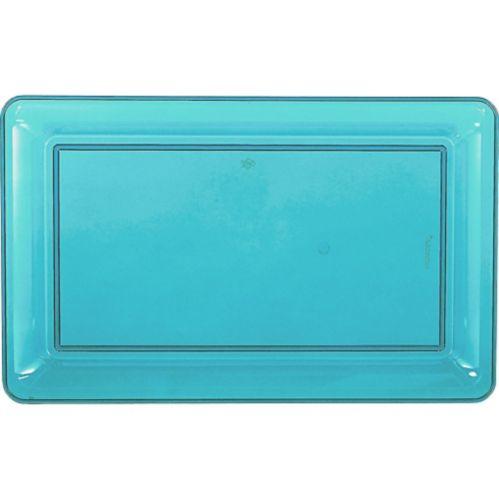 Plateau rectangulaire bleu caraïbe Image de l'article