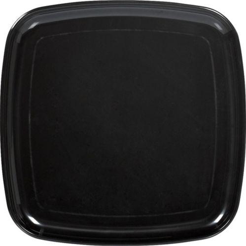 Plastic Square Platter, Black