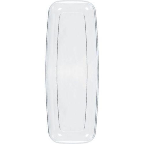 Clear Plastic Long Rectangular Platter