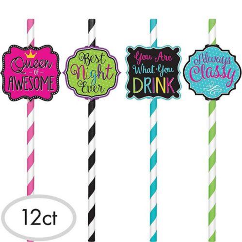 Fun Sayings Straws, 12-pk