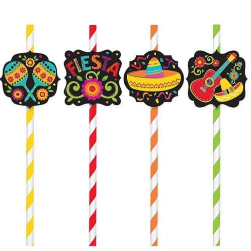 Pailles en papier Fiesta, paq. de 12