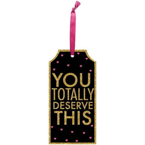 Glitter You Deserve This Bottle Tag