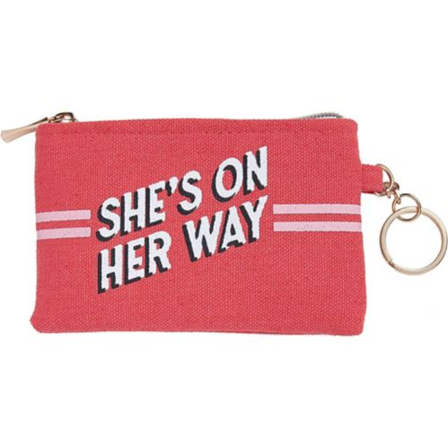 She's on Her Way Coin Purse Keychain