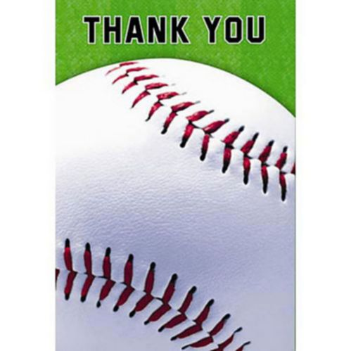 Baseball Fan Thank You Cards, 8-pk