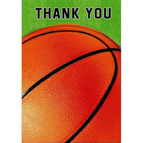 Basketball Fan Thank You Cards, 8-pk