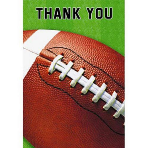 Football Fan Thank You Notes, 8-pk