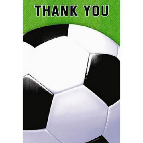 Soccer Fan Thank You Cards, 8-pk