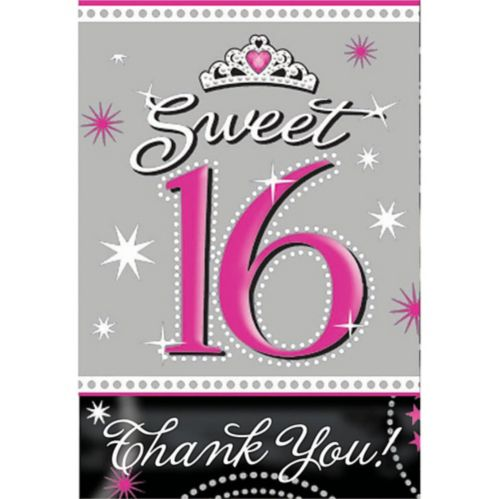 Sweet 16 Sparkle Invitations and Thank You Notes, 20-pk Product image