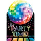 Disco Fever Postcard Invitations, 8-pk