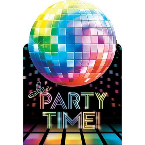 Invitations cartes postales Disco Fever, paq. 8