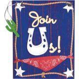Invitation bandana Western, paq. 8